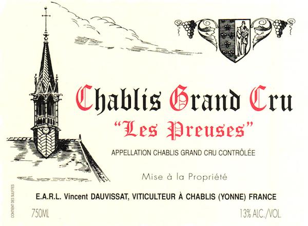 Les Preuses 2007 Domaine Vincent Dauvissat , Chablis Grand Cru