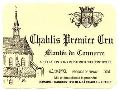 Montée de Tonnerre 1996, François Raveneau, Chablis 1er Cru