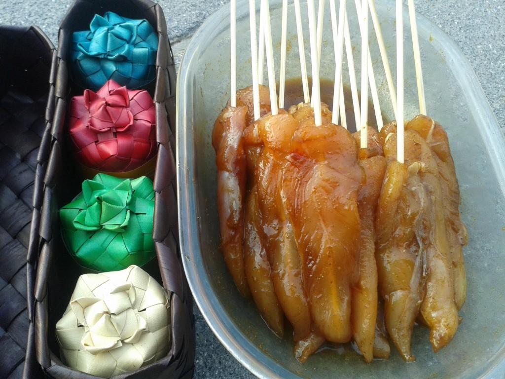 Satays de poulet - marinade thaï