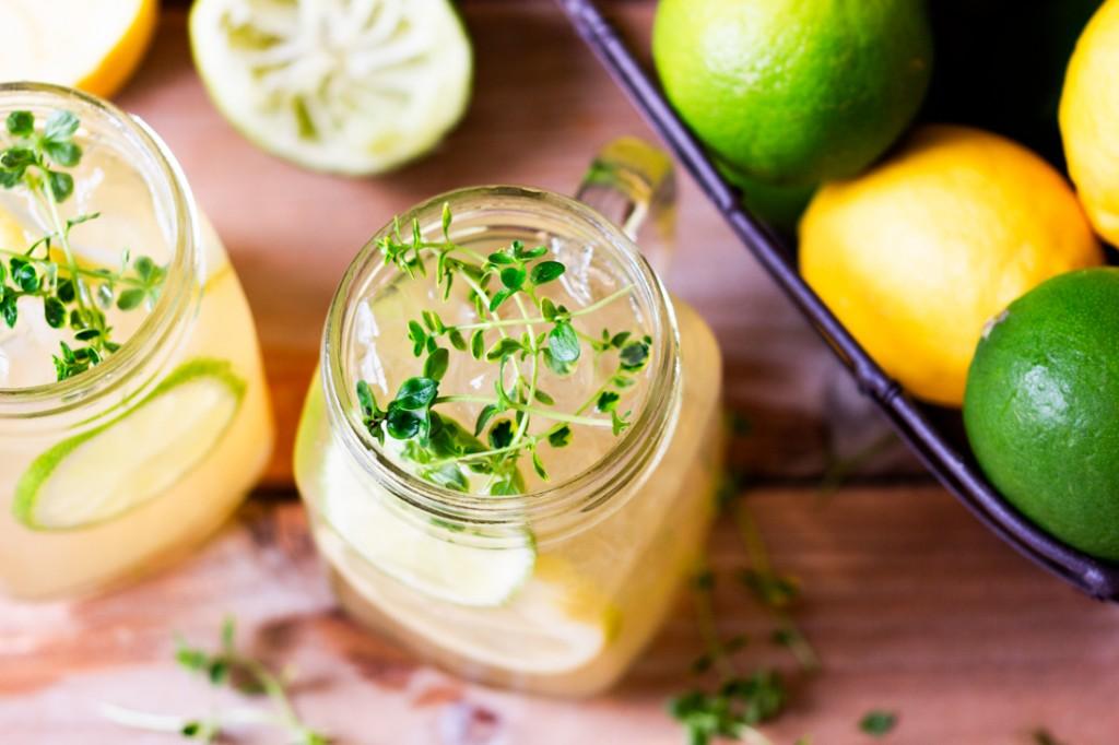 Thé glacé citron gingembre