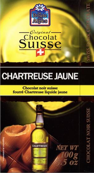 Chocolat à la Chartreuse jaune - La Route des Alpes