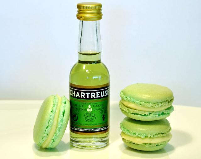 Macarons à la Chartreuse (Vert de plaisir)